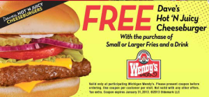 WENDYS free Printable Coupons 2015 - ( (1)