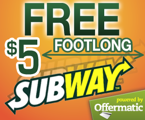 free Subway Menu Coupons bogo