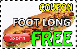 free Subway Menu Coupons footlong