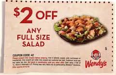 2 off coupons wendys