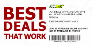 subway - Coupons and Promo codes - 2015 Printbale free codes