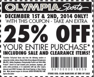 Olympia Sports Printable Coupon 38