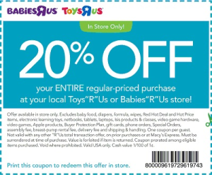 Babies R Us Coupons 2015 2Promotional Code