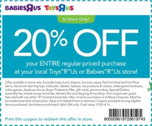 Babies R Us Coupons 2015 Promotional Code