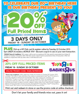 Babies R Us Coupons codes retail store