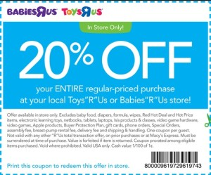 "Babies R Us and Toys R Us donate to a number of worthwhile organizations and charities every year, including Toys for Tots, Alex's Lemonade Stand, and the Special Olympics. About Babies R Us Babies""R""Us is a leading retailer of merchandise for babies and young children."