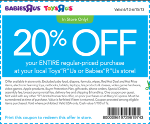 Baby Coupons Printable Babies R Us Store