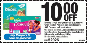 Printable Baby Coupons - Pampers and huggies 10 off