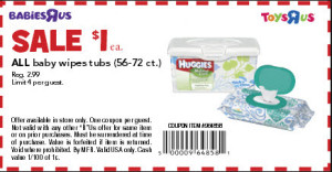 Printable Baby Coupons - Pampers and huggies aloe wipes