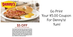 7 new Dennys new fast Food Coupon Codes Booklet