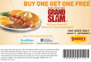 Dennys Coupons Breakfast
