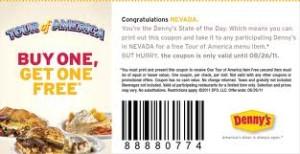 dennys coupon codes