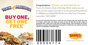 new Dennys Coupons Codes and Printable