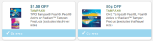 Free Tampax Printable Coupons - Click Here to get free coupons (2)