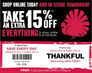 Black Friday Coupons NOV 27 2015 Retail stores USA (1)