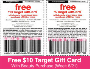 Target store Make Up beauty Coupons 2015