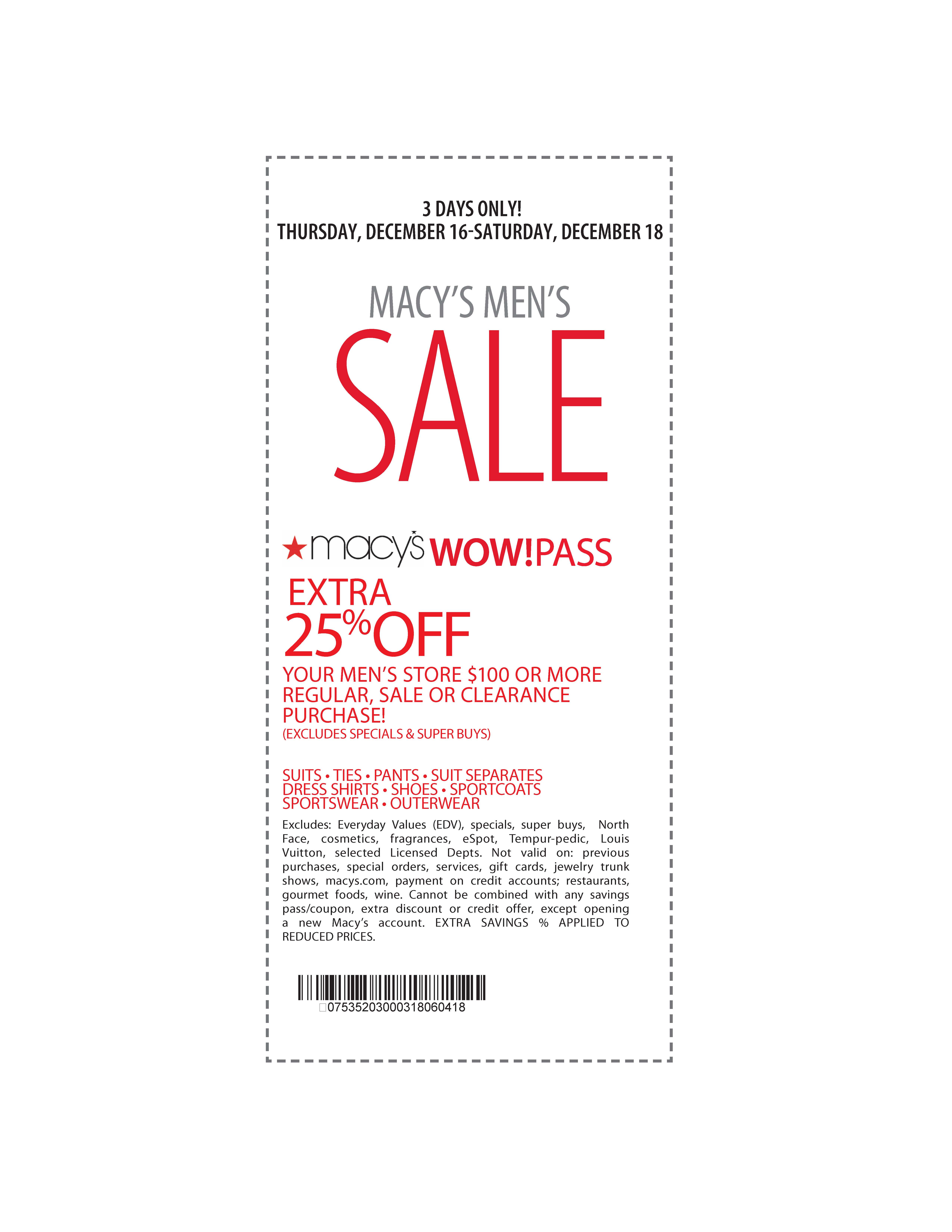 2016 get new printable Macy's Coupons