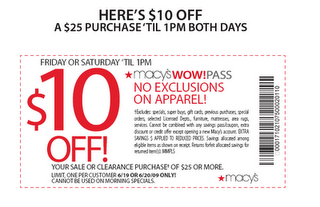 30 percent off get new printable Macy's Coupons