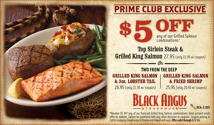 Black Angus Coupons Steakhouse Codes new