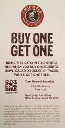 Chipolte Coupons - Print and Mobile  (6)