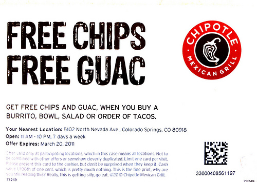 Chipolte Coupons - Print and Mobile December