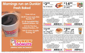 Dunkin Donuts Coupons for Mobile and Print  (2)