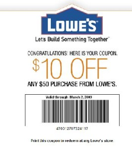 Lowes New Coupons - 2015