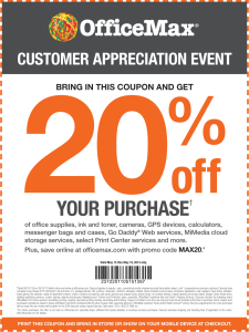 New OfficeMax Coupons 20 off