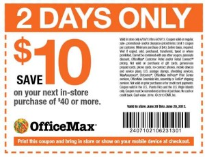 New OfficeMax Coupons 40 off