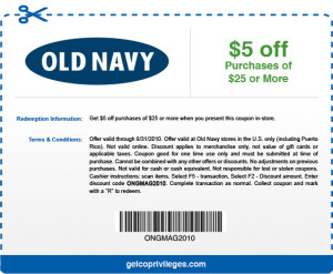 OLD Navy Store COupons and Codes  (7)