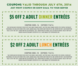 Olive garden online coupons Claritin coupons