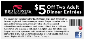 Red Lobster COupons - 2015  (1)