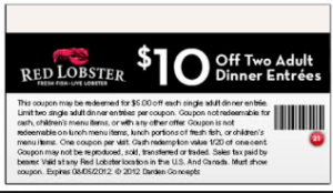 Red Lobster COupons - 2015  (2)