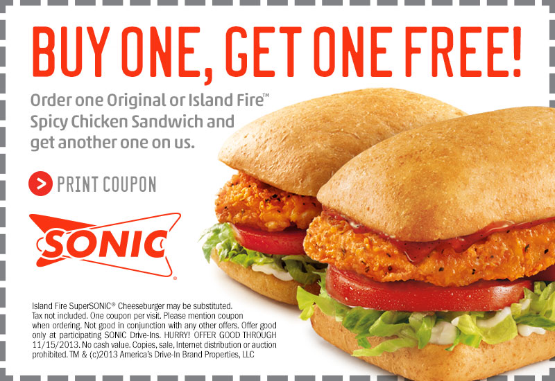 Sonic Coupons and Promo Codes (8)