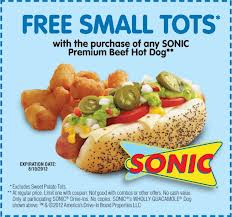 Sonic Coupons and Promo Codes drive through