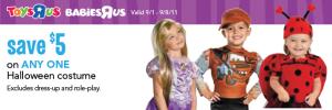 ToysRUs-Coupon haloween - costumes
