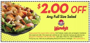 Wendys Coupons and Codes 2015 Free  (2)