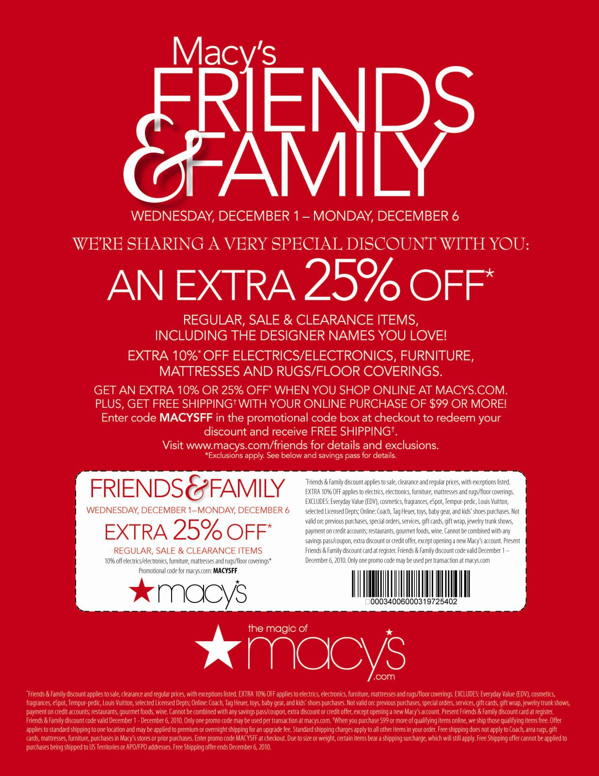 Find the best of Macy's promo codes, coupons, deals and discounts for December Save with RetailMeNot Today!