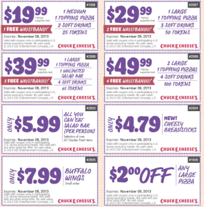 free Chuck E Cheese Printable Coupons (1)