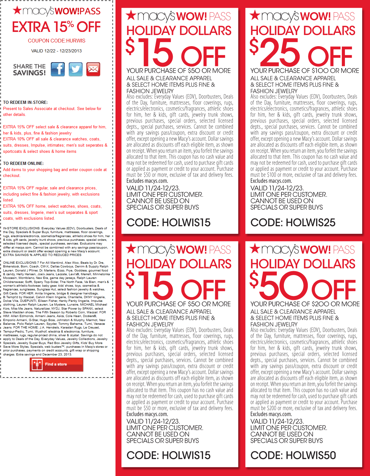Coupon Alerts. Never miss a great Macy's coupon and get our best coupons every week!