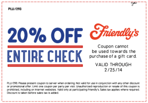 Friendlys Coupon