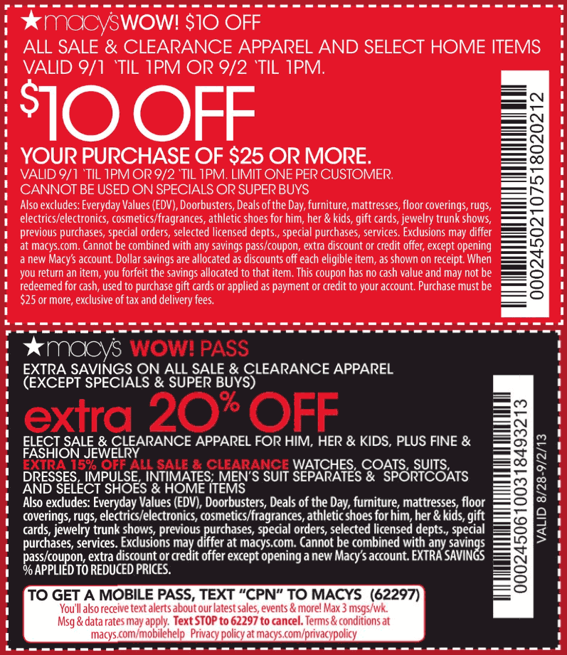 Warehouse discount center coupon
