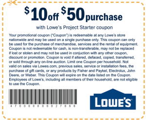 lowes printable coupons
