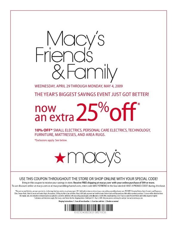 Macy's offers free shipping on orders of $99 or more, and will occasionally offer a free shipping promo code. Also, beauty products ship free! Add any beauty item .