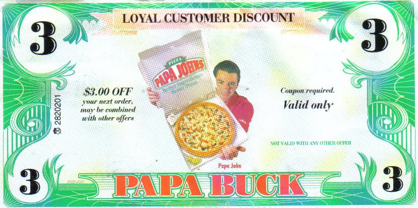 papa johns New Coupons free