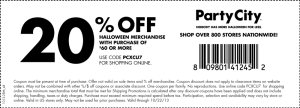party city halloween coupons 2015