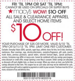 printable Macy's Coupons mobile QR Code