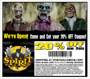 save 15 off costumes halloween coupons part city and Spirits