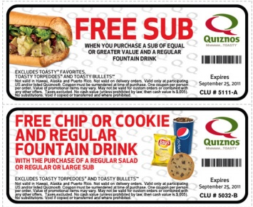 image about Quizno Printable Coupons identify Quiznos Tremendous Great Discount codes Printable Coupon codes On the internet