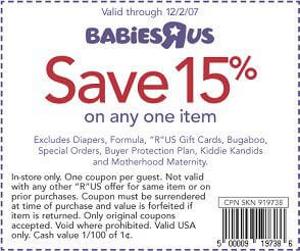 Babies R Us Printable Coupons and voucher savings